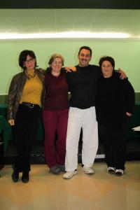 Staff Sicilia 2014/2016 . Da sinistra: Flora Curci ; Valentina Portelli ; Giuseppe Orlando (RR) ; Mariachiara Vinti ( DAR)